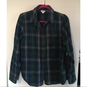 Women's Forrest green L.L Bean flannel size medium
